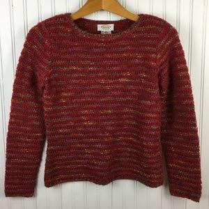 Talbots Loose Knit Wool Blend Crew Neck Sweater